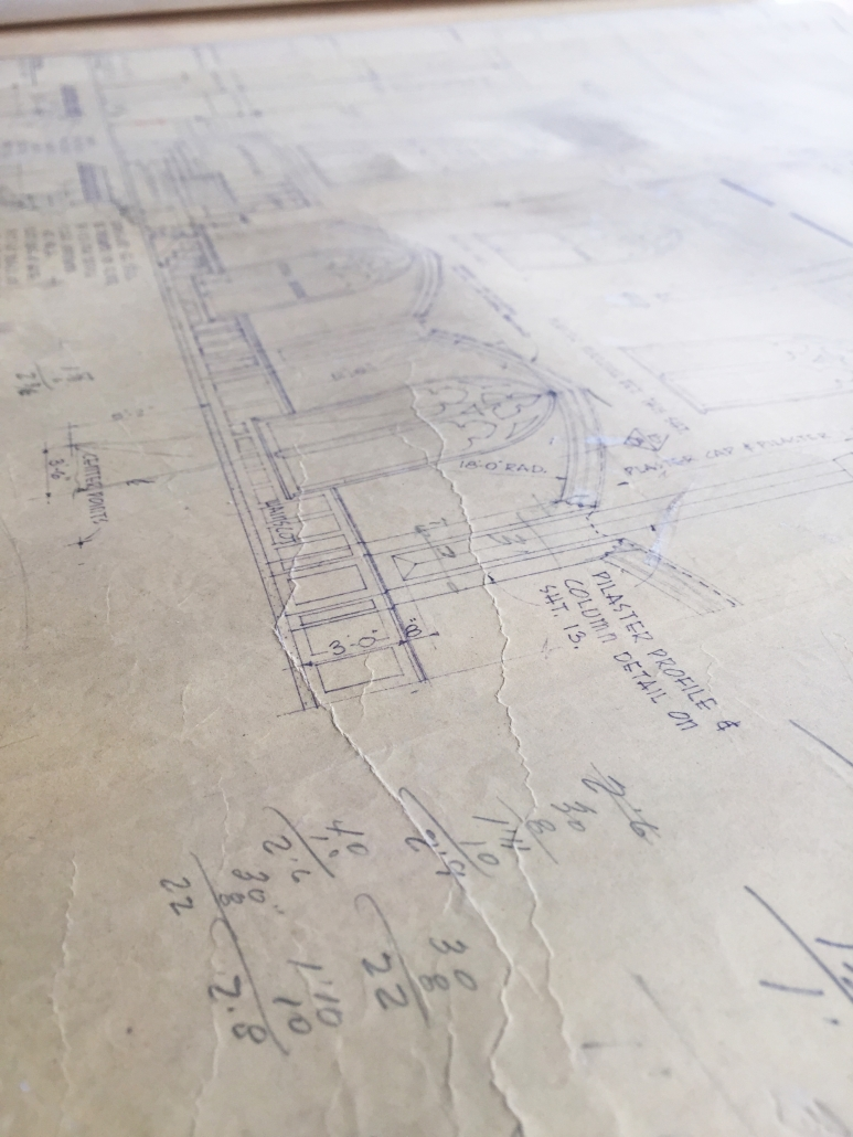 First Baptist Church, Laurel, MS, Sanctuary Architectural Plans, Section Drawing