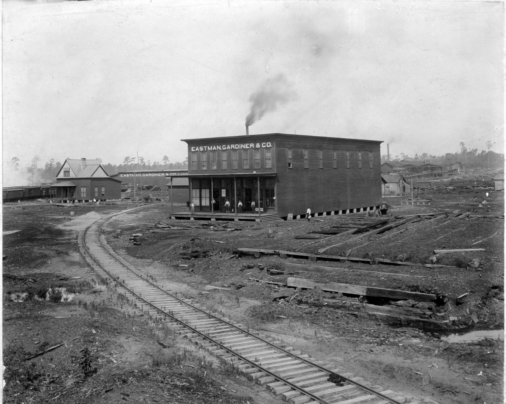 Original Eastman-Gardiner Lumber Company Office Building, circa 1895