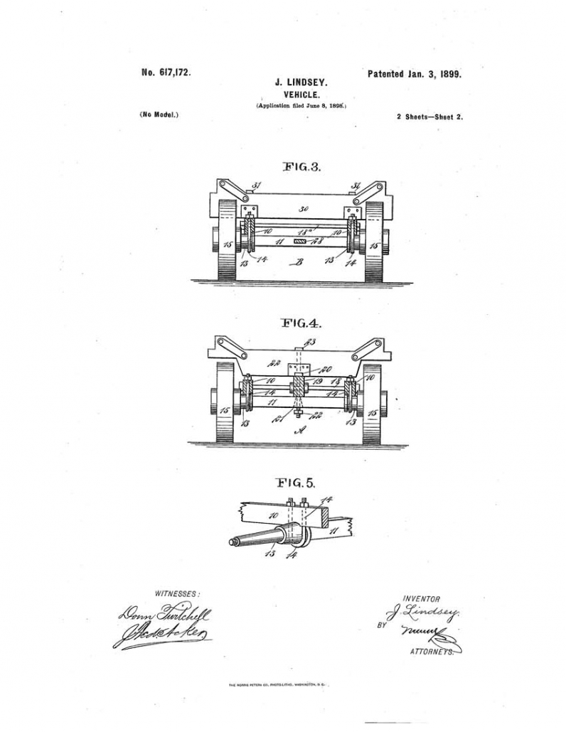 Patent Drawings of the Lindsey Wagon, Page 2
